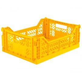 Cesta piegevole midi yellow