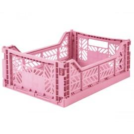 Cesta piegevole midi baby pink