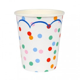 Bicchieri dolci coriandoli 12 pezzi