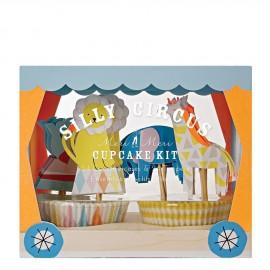 Cupcake kit circo 24 pezzi