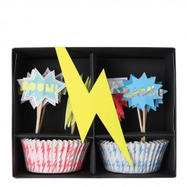 Cupcake kit super hero 24 pezzi