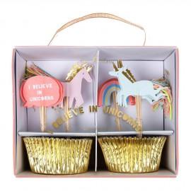 Cupcake kit unicorni 24 pezzi