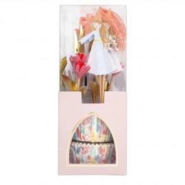 Cupcake kit principessa 12 pezzi