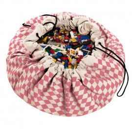 Sacco porta giochi e tappeto rombi rosa