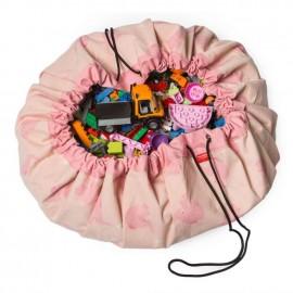Sacco porta giochi e tappeto elefanti rosa