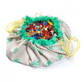 Sacco porta giochi e tappeto cactus