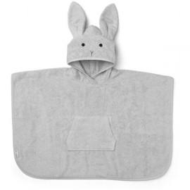 Accappatoio poncho coniglio grigio
