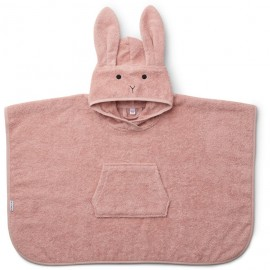 Accappatoio poncho coniglio rosa
