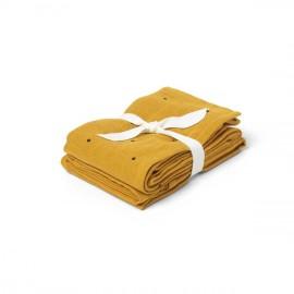 Mussolina 2 pezzi mostarda pois