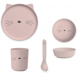 Set pappa gatto rosa