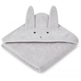 Accappatoio a triangolo coniglio grigio
