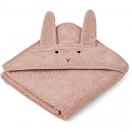 Accappatoio a triangolo coniglio rosa