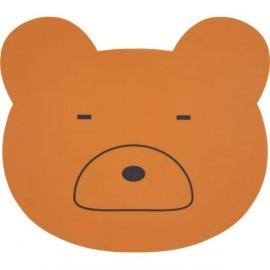 Tovaglietta silicone orso mostarda