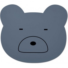 Tovaglietta silicone orso blu