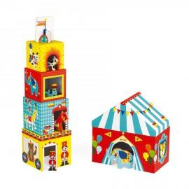 Multi cubi circo con personaggi