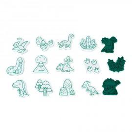 Cofanetto 15 timbri dinosauro