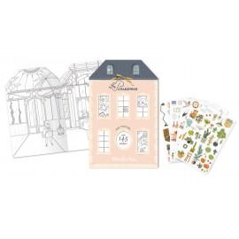 Quaderno casa da colorare + stickers Parisienne