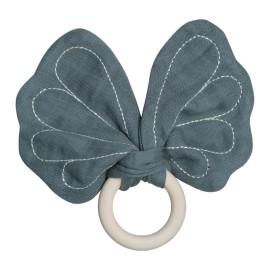 Anello da dentizione Farfalla blu