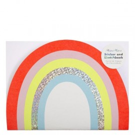 Sketch book arcobaleno con stickers