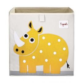 Contenitore portaoggetti Rinoceronte in tessuto