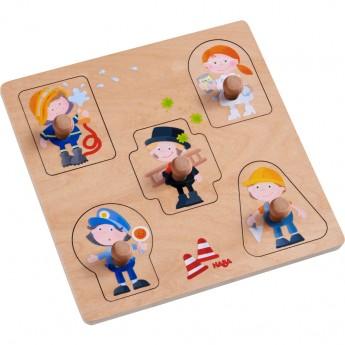 Puzzle legno forme e professioni