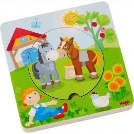 """Libro puzzle in legno """"il mondo della fattoria"""""""