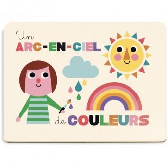Tavola acquerelli arcobaleno