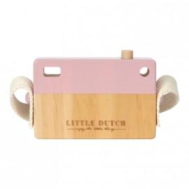 Macchina fotografica little dutch rosa in legno