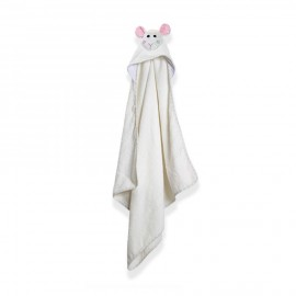 Prodotti bagnetto neonato Zoocchini - Asciugamano con cappuccio agnellino