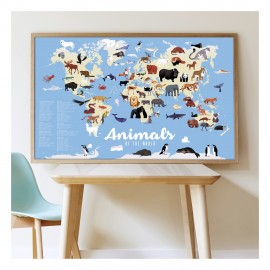 Poster sticker animali Poppik