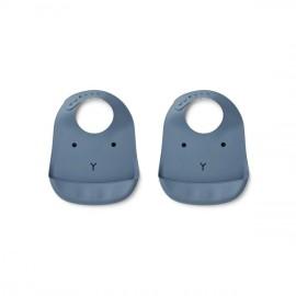 Bavaglia in silicone liewood coniglio blu