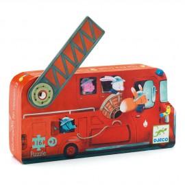 Puzzle il camion dei pompieri djeco