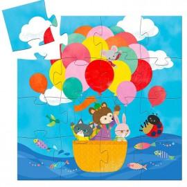 Puzzle la mongolfiera djeco