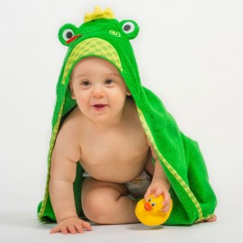 Prodotti bagnetto neonato Zoocchini - Asciugamano con cappuccio ranocchietta