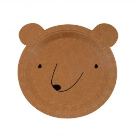 Piatto orso Let's Explore 12 pezzi