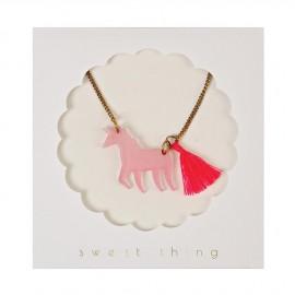 Collana unicorno con nappina