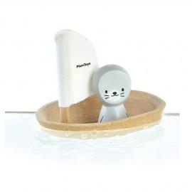 Barca a vela galleggiante foca