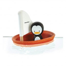 Barca a vela galleggiante pinguino