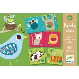 """Puzzle duo  """" Habitat"""" djeco"""