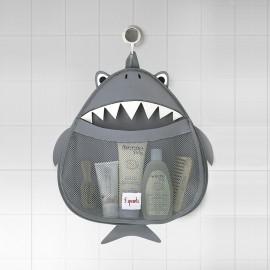 Portaoggetti bagno o contenitore portagiochi da bagno 3Sprouts fantasia Squalo