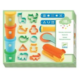 Starter kit pongo djeco 4 barattoli + 17 accessori