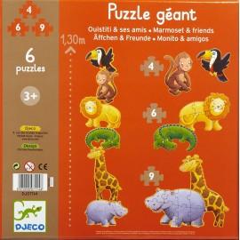 Puzzle gigante progressivo Marmoset e  i suoi amici