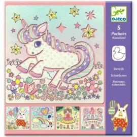 Stencil unicorni djeco