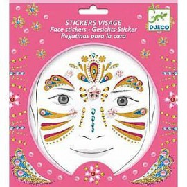 Set Stickers viso principesse djeco