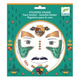 Stickers viso cavaliere djeco