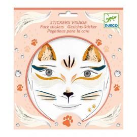 Stickers viso gatto