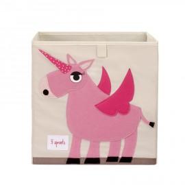 Contenitore portaoggetti 3sprouts Unicorno in tessuto organizzazione casa