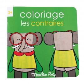 """Album da colorare moulin roty """"I contrari"""""""