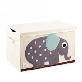 Baule portagiochi 3Sprouts Elefante – Contenitore per giochi in tessuto