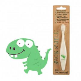 Spazzolino per bambini biodegradabile jack 'n jill dinosauro
